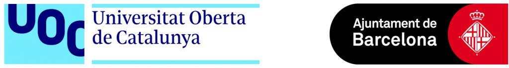 Logos: UOC - Ajuntament de Barcelona