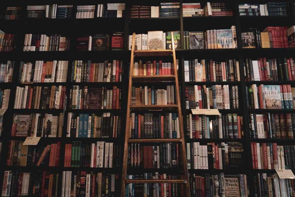 Fotografía de una estantería llena de libros