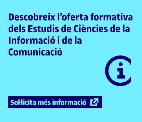 Descobreix l'oferta formativa dels Estudis de Ciències de la Informació i de la Comunicació de la UOC