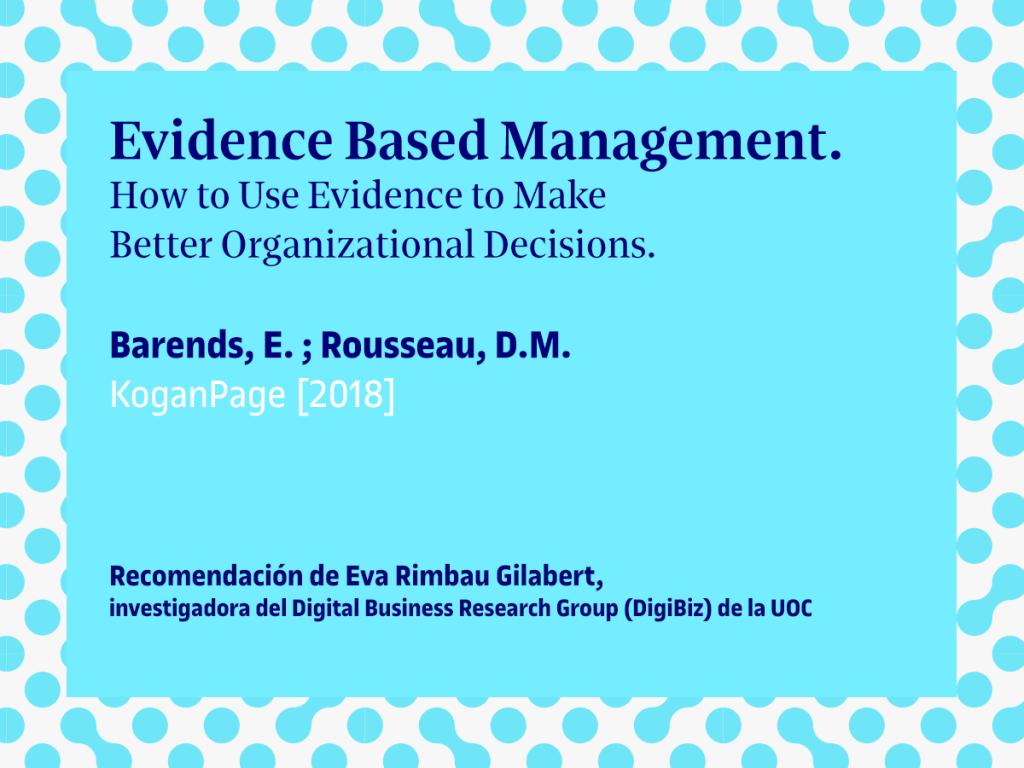 Libro recomendado: «Evidence Based Management»
