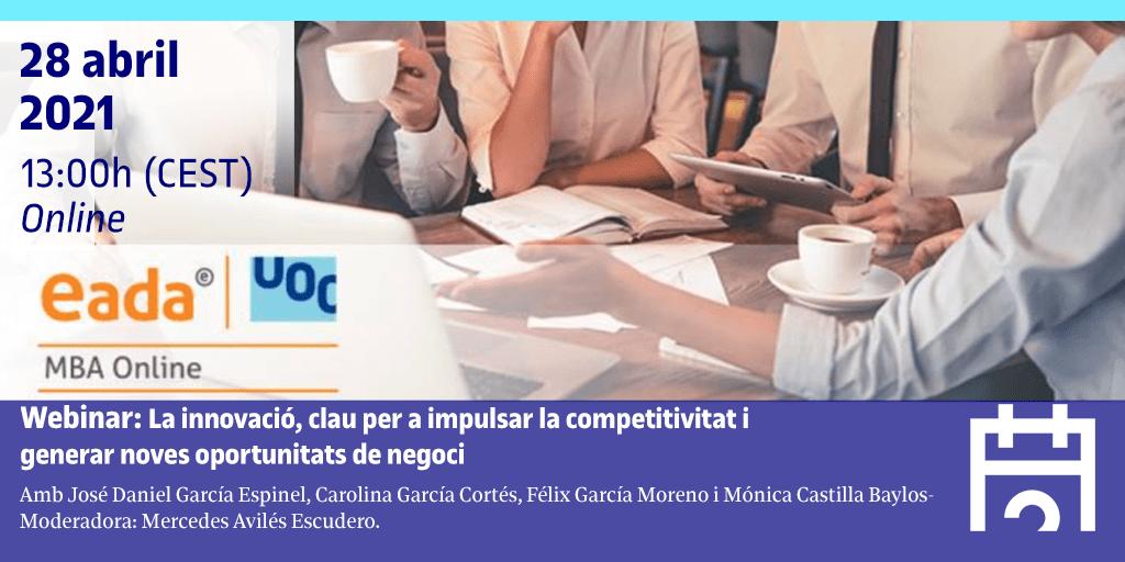 Webinar: La innovació, clau per a impulsar la competitivitat i generar noves oportunitats de negoci