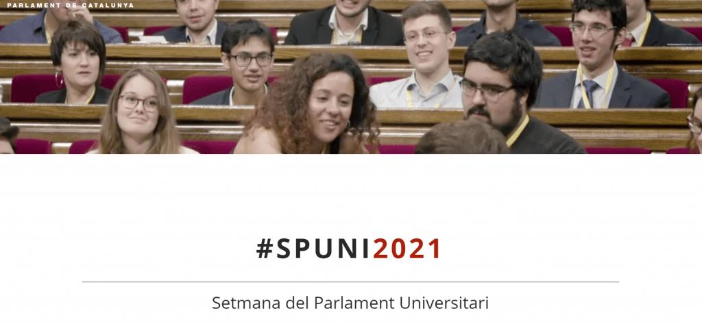 Obertes les inscripcions a la SPUNI, la Setmana del Parlament Universitari 2021