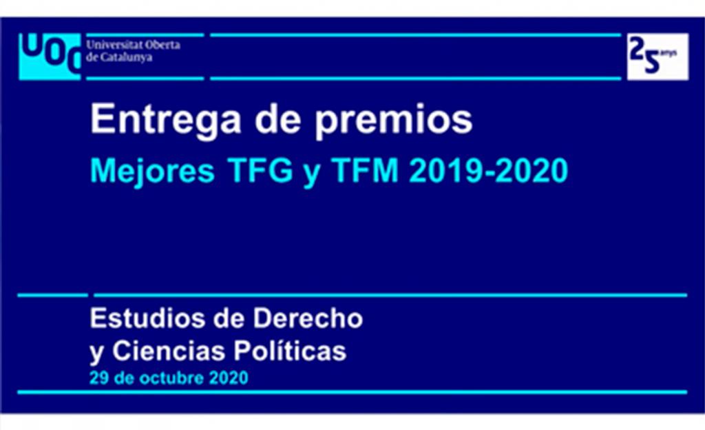 Los estudios de Derecho y Ciencia Política distinguen a los mejores TFG y TFM