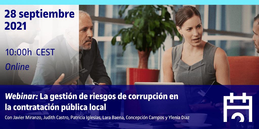 Webinar: La gestión de riesgos de corrupción en la contratación pública local
