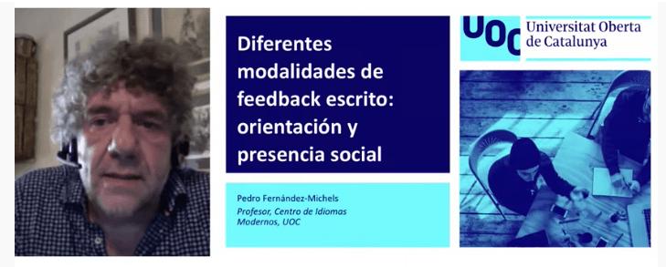 Webinar — Diferentes modalidades de feedback escrito: orientación y presencia social