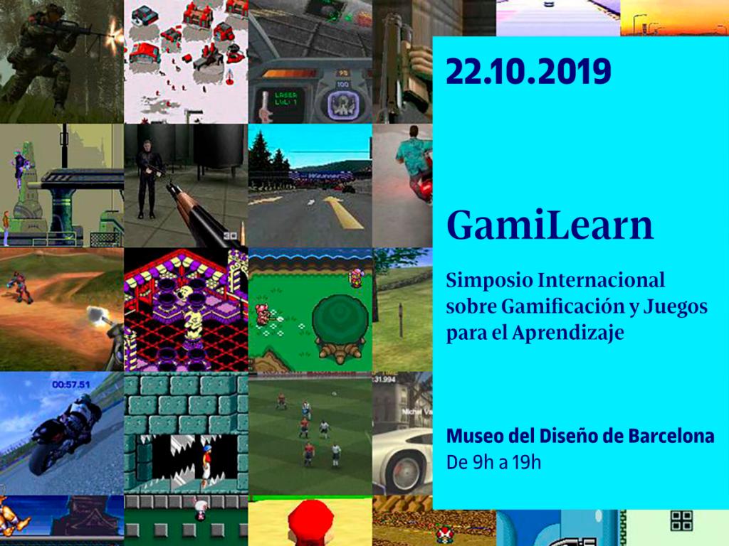 El GamiLearn es un simposio, dentro de la programación del Chi Play, que tendrá lugar el 22 de octubre en el Museo del Diseño de Barcelona