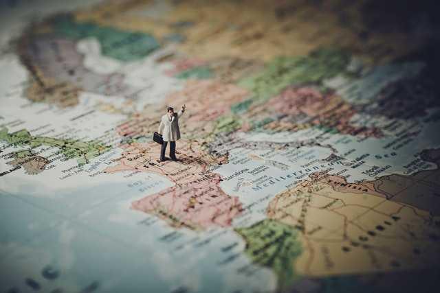 Caminando por un mapa