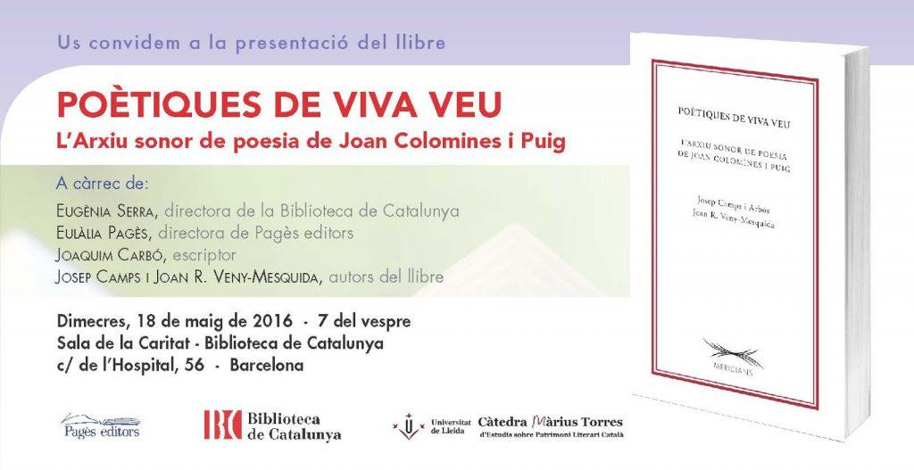 Poètiques i Joan Colomines