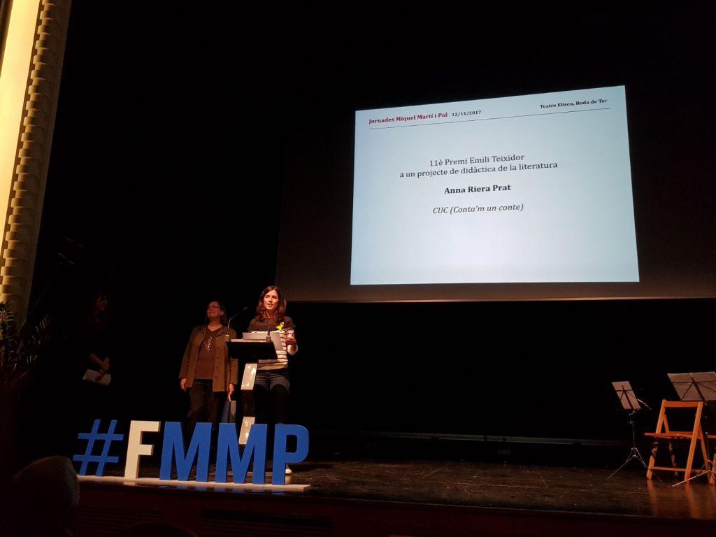 Anna Riera ha guanyat el Premi Emili Teixidor 2017